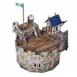 Конструктор картонный 3D Умная бумага Круглая башня 220
