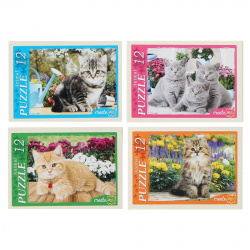 Пазлы 12 элементов 130*175 Рыжий кот CreateMe Забавные котята П12-0619