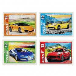 Пазлы 12 элементов 130*175 Рыжий кот CreateMe Крутые автомобили П12-1555