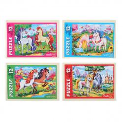 Пазлы 12 элементов 130*175 Рыжий кот CreateMe Чудесные единороги №13 П12-5626