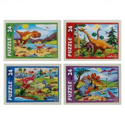 Пазлы 24 элемента 130*180 Рыжий кот CreateMe Динозавры П24-9914