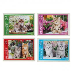 Пазлы 24 элемента 130*175 Рыжий кот CreateMe Котята в цветах П24-0622