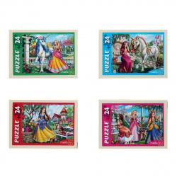 Пазлы 24 элемента 130*175 Рыжий кот CreateMe Волшебный мир принцессы П24-0621