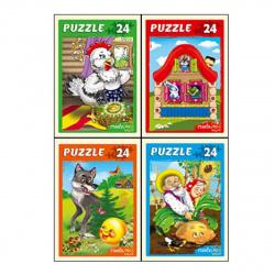 Пазлы 24 элемента 130*180 Рыжий кот CreateMe Первые сказки П24-6327