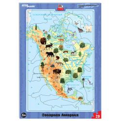 Пазлы 37 элементов 190*290 Step Puzzle Северная Америка 80457