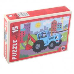 Пазлы MAXI 15 элементов 215*300 Рыжий кот Синий трактор №7 ПУ15-1775