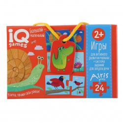 Пазлы MAXI 24 элемента 215*300 Рыжий кот CreateMe Синий трактор №6 ПУ24-1776