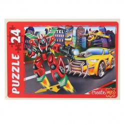 Пазлы MAXI 24 элемента 215*300 Рыжий кот CreateMe Мир трансформеров-3 ПУ24-7189