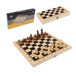 Игра настольная Шахматы 24*24см Рыжий кот поле деревянное фигуры пластиковые AN02583