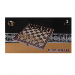 Игра настольная Шахматы 34*34см Рыжий кот поле деревянное фигуры деревянные AN02588