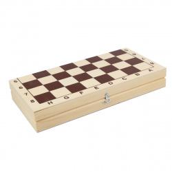 Игра настольная Шахматы 29*29см Рыжий кот поле деревянное фигуры деревянные ИН-8056