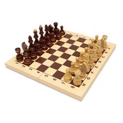 Игра настольная Шахматы 43*34см Рыжий кот Гроссмейстерские поле деревянное фигуры деревянные ИН-7522