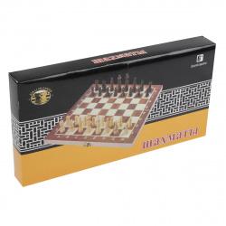 Игра настольная Шахматы 29*29см Рыжий кот поле деревянное фигуры пластиковые AN02584