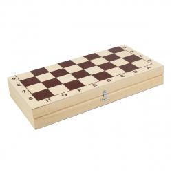 Игра настольная Шашки 29*29см Рыжий кот поле деревянное фигуры деревянные ИН-7513