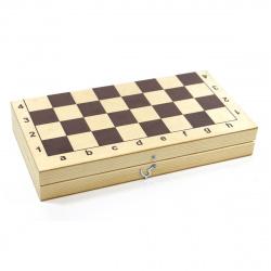 Игра настольная Шахматы 30*30см Десятое Королевство поле деревянное фигуры деревянные 02845