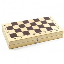 Игра настольная 29*29см, дерево, пластик Шахматы, Шашки Десятое Королевство 03879