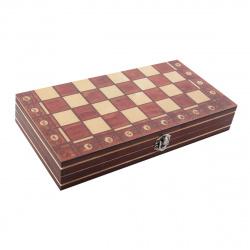 Игра настольная Шахматы магнитные 24*24см Рыжий кот поле деревянное фигуры деревянные  P00032