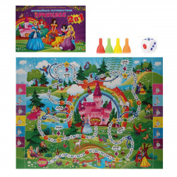Игра настольная Ходилка 2в1 Рыжий кот Волшебное путешествие принцесс ИН-7914
