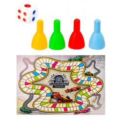 Игра настольная Ходилка Мини Гоночная трасса Рыжий кот ИН-6403