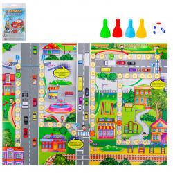 Игра настольная Ходилка Мини Правила дорожного движения Рыжий кот ИН-0991