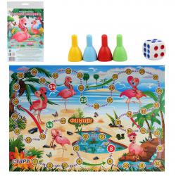 Игра настольная Ходилка Мини Рыжий кот Розовый фламинго ИН-2600