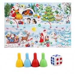 Игра настольная Ходилка Мини Рыжий кот Дед Мороз и подарки ИН-0323
