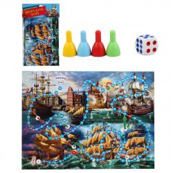 Игра настольная Ходилка Макси Рыжий кот Морской бой ИН-2607