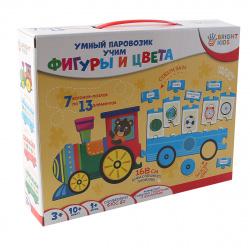 Игра развивающая Рыжий кот Умный паровозик Учим фигуры и цвета ИН-7635