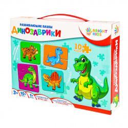Игра развивающая Bright kids Динозаврики картон Рыжий кот ИН-7623