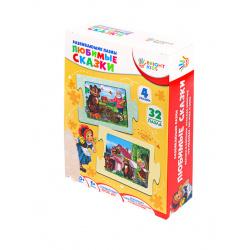 Игра развивающая Bright kids Любимые сказки картон Рыжий кот ИН-1684