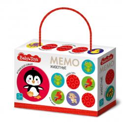 Игра развивающая МЕМО 28 карточек Десятое Королевство BabyToys Животные 04051