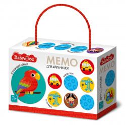Игра развивающая МЕМО 28 карточек Десятое Королевство BabyToys Для мальчишек 04052