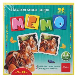 Игра развивающая МЕМО 36 карточек Hatber В мире животных 36Инм_12755