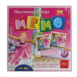 Игра развивающая МЕМО 36 карточек Hatber Принцессы 36Инм_16889