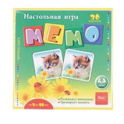Игра развивающая МЕМО 36 карточек Hatber Пушистые Любимцы 36Инм_11096