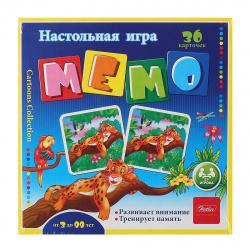 Игра развивающая МЕМО 36 карточек Hatber Веселые джунгли 36Инм_11094