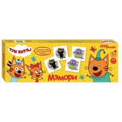 Игра развивающая МЕМО 48 карточек Step Puzzle Три кота 80210