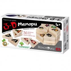 Игра развивающая Десятое Королевство Мемори 3D Монстрики дерево 02903