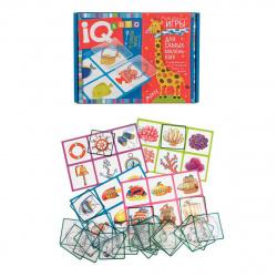 Игра настольная Лото Айрис-пресс для малышей В синем море подбери контур фишки пластиковые 27211