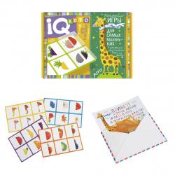Игра настольная Лото Айрис-пресс для малышей Что в корзинке? найди половинку фишки пластиковые 27215