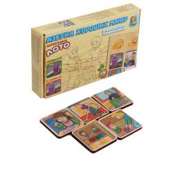 Игра настольная Лото Десятое Королевство Азбука хороших манер фишки деревянные 00734