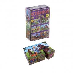 Кубики пластиковые 6шт Рыжий кот В гостях у сказки КО6-9741