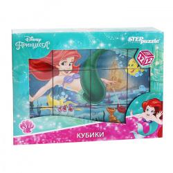 Кубики пластиковые 12шт Step Puzzle Disney Русалочка 87150