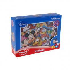 Кубики пластиковые 12шт Step Puzzle Disney Микки Маус 87157
