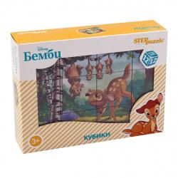Кубики пластиковые 12шт Step Puzzle Disney Бэмби 87161