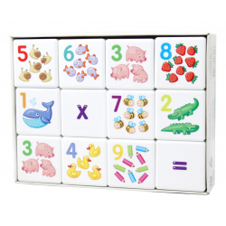 Кубики пластиковые 12шт Десятое Королевство Кубики для умников Арифметика 00711