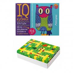 Кубики пластиковые 12шт Айрис-пресс Умные кубики Контуры 50 игр для развития интеллекта 27488