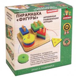 Развивающая игра Буратино Деревянная Пирамидка Фигуры 01-11-R/265047