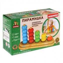 Развивающая игра Буратино Деревянная Пирамидка 26-9-R/265678