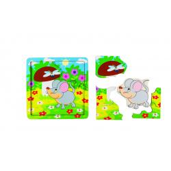 Развивающая игра Step Puzzle Деревянные пазлы Мышонок 89069